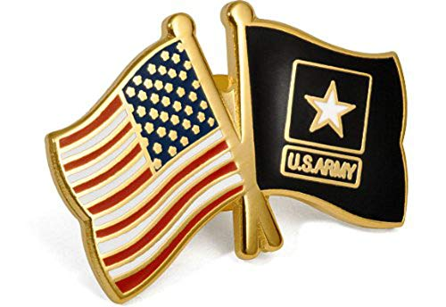 Armed Forces Depot USA Flag/U.S. Army Flags Lapel Pin Black