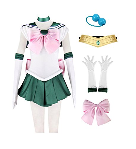 DAZCOS Adult US Size Sailor Kino Makoto Jupiter Cosplay Costume Dress (Women S)