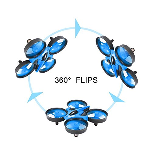 RCtown JJRC H36 Mini Drone 2.4GHz 4CH Mini UFO Quadcopter Drone with 6-Axis Gyro Headless Mode Remote Control Nano Quadcopter (Blue)
