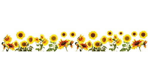 Crearreda CR-53001 Sunflowers Border Decal (Sunflower Stickers Wall)