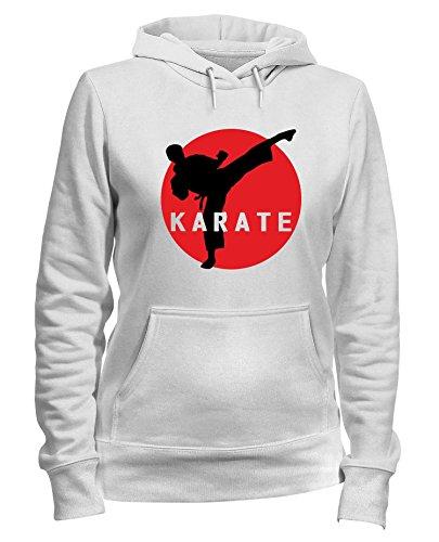 Cappuccio Felpa Organic 1 T Mens shirtshock Karate Bianca Keri Donna Tam0073 wz5F5t