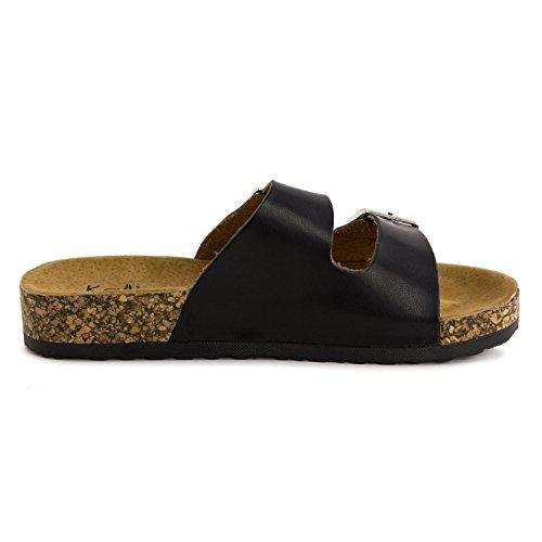 883533fada38 Kali Girls Open Toe Buckle 2 Strap Ankle Hook Sandals (Toddler ...