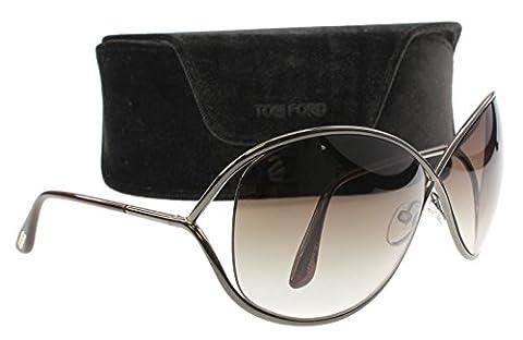 Tom Ford Miranda FT0130 Sunglasses-36F Bronze (Brown Gradient Lens)-68mm