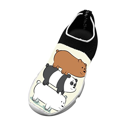 Bears Stack Customized Printing Children's Slip-on Flyknit Outdoor Sport Shoes