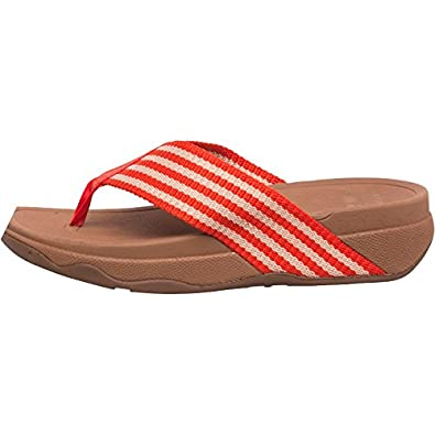 8217f3e1f03 FitFlop Womens Surfa Flip Flops Flame Stone  Amazon.co.uk  Shoes   Bags