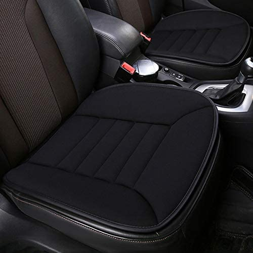 Car Seat Cushion Pad for Car Driver Seat Office Chair Home Use Memory Foam Seat Cushion Pain Relief Comfort Seat ProtectorNon Slip Bottom Design Black
