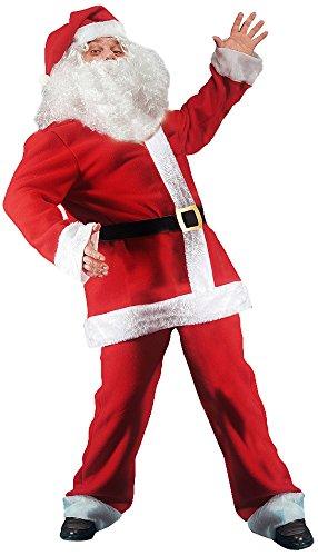 Costume Babbo Natale.Costume Babbo Natale Extra Lusso In Pile Taglia Grande Amazon It