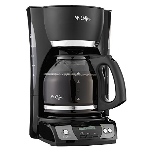 Mr. Coffee Simple Brew 12-Cup Programmable Coffee Maker, Black