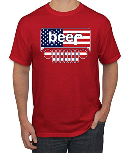 (Wild Bobby Beer Logo | Cars and Trucks Parody Humor Alcohol | Mens Drinking Tee Graphic T-Shirt, Red USA, Medium)