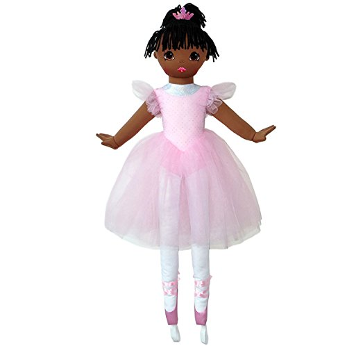 (Anico Well Made Play Doll for Children La Bella Ballerina, African American, 36