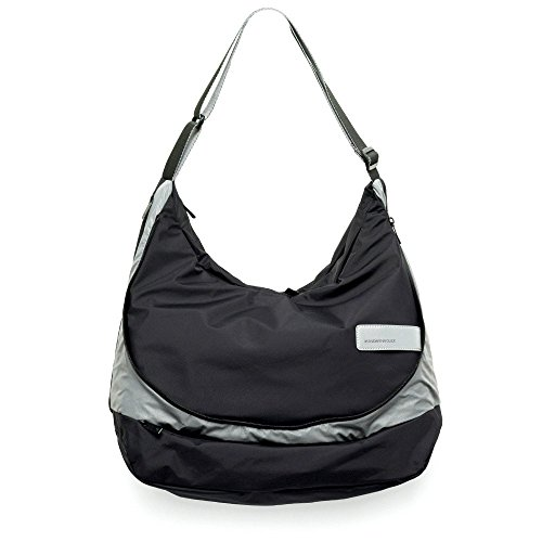 Mandarina Duck Switch On XL Funktion SCHULTERTASCHE Tasche Bag Black-Grau 7QT05