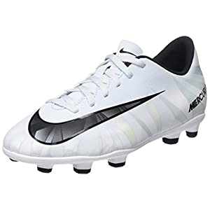 Nike Kids MercurialX Vortex III CR7 FG Blue Tint/Black/White Soccer Cleat 10 Kids US