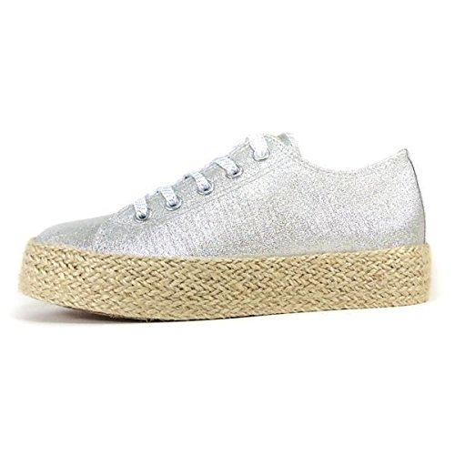 TRESHER - Zapatillas Plateadas Sun Skate - 37: Amazon.es: Zapatos y complementos
