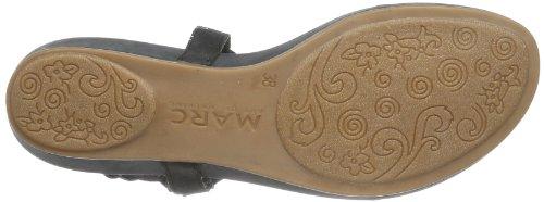 Marc Shoes Indira 1.637.03-08/100 - Chanclas de cuero para mujer, color negro, talla 36 Negro (Schwarz (black 100))