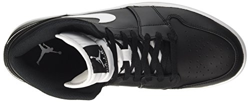 da Black NIKE White Air Uomo Multicolore Jordan Mid White Scarpe Basket 1 g4AO4BXq
