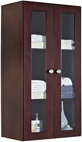 American Imaginations 715   24-Inch  X 48-Inch  Solid Cherry Wood Reversible Door Wall Linen Cabinet, Coffee Finish by American Imaginations