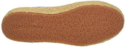 Superga 2790-Fabricfanplropew, Zapatillas de Estar por Casa para Mujer Multicolore (Azure Spring)