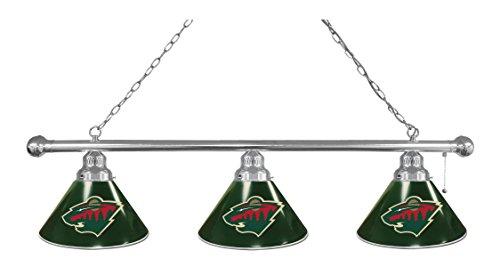 NHL 3-Shade Pool Table Light by Holland Bar Stool - Minnesota Wild, - Minnesota Lamp Nhl Wild