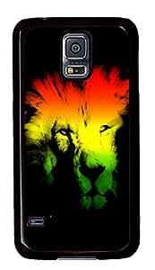 Samsung Galaxy S5 Abstract Lion Head PC Custom Samsung Galaxy S5 Case Cover Black