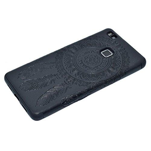 inShang Huawei P9 Lite,Ascend P9 Lite case Funda y Carcasa para Huawei P9 Lite case Huawei P9 Lite móvil, Ultra delgado y ligero Material de TPU, carcasa posterior (Back case) con , Black chimes