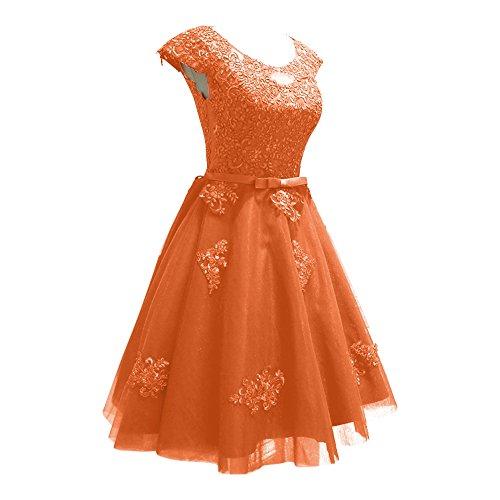 Ballkleider Festklich Kurzes A Orange Brautjungfernkleider Damen Abendkleider Silber Rock Linie Charmant pw1PqZZ
