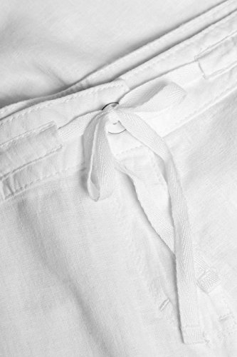 next Damen Hose aus Leinengemisch mit Geradem Bein– Tall Weiß EU 40 Tall (UK 12T) 6o6Ak7vf