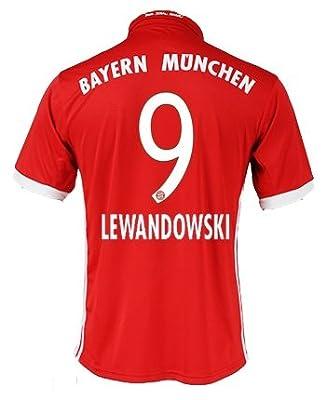 #9 Robert Lewandowski Bayern Munich Home Soccer Team Jersey + get Mr. Sport box as a GIFT