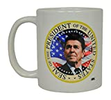 Ronald Reagan Coffee Mug The Best President On The United States USA Flag Novelty Cup Gift Idea Conservative Republican The Gipper