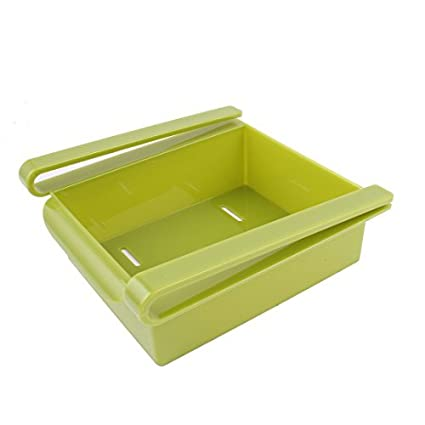 eDealMax plástico Refrigerador cajón del congelador envase formado Bin bandeja verde