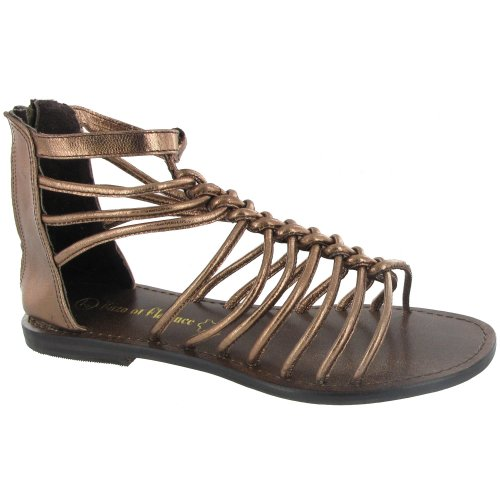 Enzo of Florence Ivy Gladiator Sandal / Womens Sandals Bronze mjsviUo