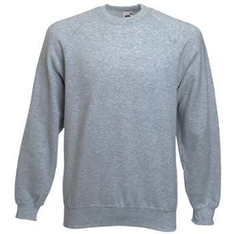 f51e515a4e0 Fruit of the Loom Raglan Sweatshirt (13 Colours): Amazon.co.uk: Clothing