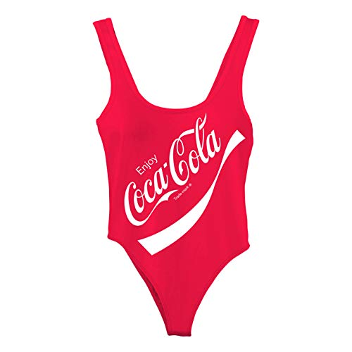 Coca Cola Halloween Costume Dress (Ladies Coca Cola Fashion Shirt - Coke Classic Logo Bodysuit (Bodysuit Red,)