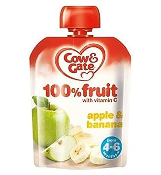 Cow & Gate Manzana Y Plátano 100% De Frutas Con Vitamina C De 4-