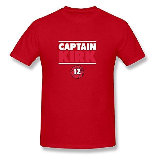 JeFF Men's Captain Kirk Shirt Red Medium