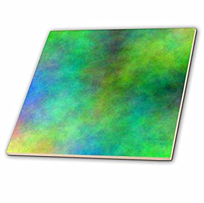 3dRose ct_164205_4 Green & Blue Cloud Watercolor Digital Art Ceramic Tile, 12""