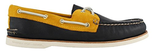 Gold Top Sider Authentic Boat Men's Shoe Sperry Navy Gold Original gqCvOpcqU