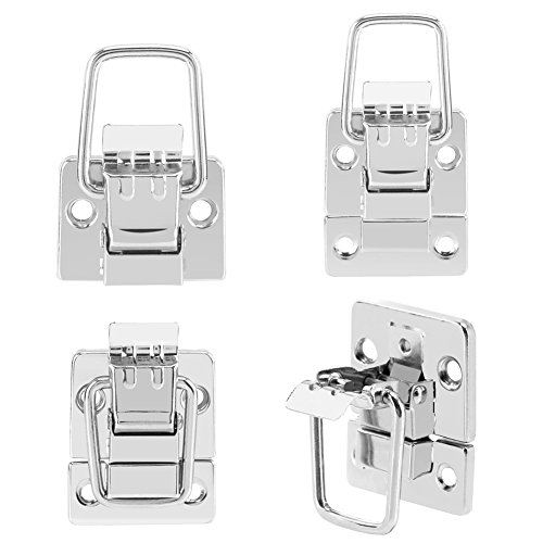 10 Pcs Stainless Steel Fastener Toggle Latches,Nickle Plated Briefcase Latch Suitcase Chest Trunk Lock Metal Fastener Toggle Latch Catch Clasp ()