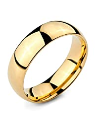 Ring for Men Women Simple Gold Classic Bands Engagement Rings Free Engraving Aooaz
