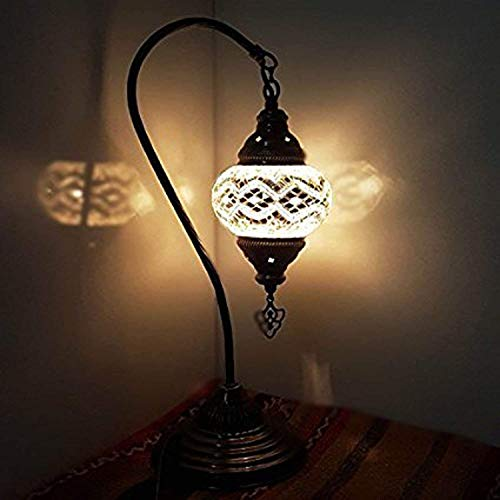 (New Special - Turkish Lamp/Moroccan Lamp Tiffany Style Glass Desk Table Lamp - B6)