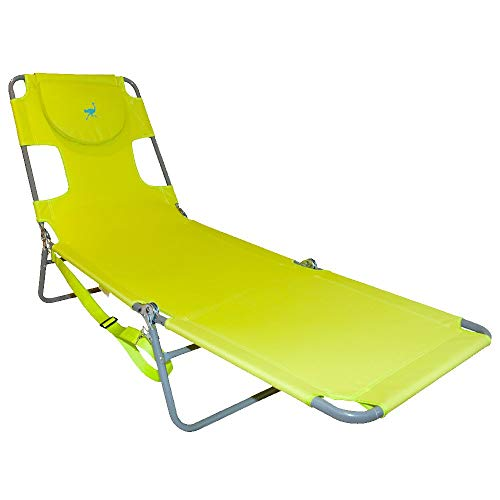Ostrich Chaise Lounge, Green (Best Reading Position For Neck)