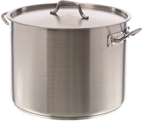 Update International (SPS-40) 40 Qt Induction Ready Stainless Steel Stock Pot w/Cover by Update International