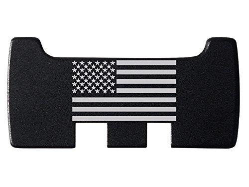 NDZ Performance for Glock Rear Ambi Speed Slide Racker Plate MOS Optics Black for Gen 1-5 Most Models Laser Engraved Image: US Flag (Best Glock Aftermarket Parts)