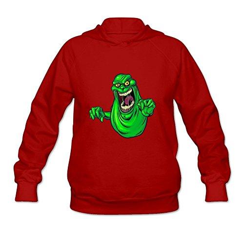 StaBe Women's Ghostbusters Slimer Long Sleeve Hoodies Sweatshirt Red Size M]()