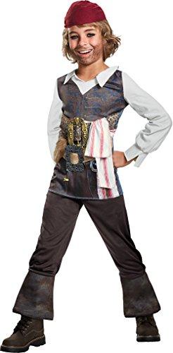 Disney POTC5 Captain Jack Sparrow Classic Costume,  Multicolor,  Large (10-12) (Captain Jack Sparrow Costume Boys)