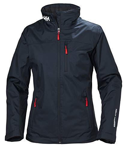 Helly Hansen Women's Crew Midlayer Fleece Lined Waterproof Windproof Breathable Rain Coat Jacket, 597 Navy, XXX-Large