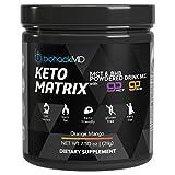 Keto Matrix Keto Supplement - Exogenous Ketones BHB Salts + MCT Oil Powder - Beta Hydroxybutyrate + C8 & C10 Medium Chain Triglycerides - Formulated by Dr. John Limansky MD, The Keto Dr™