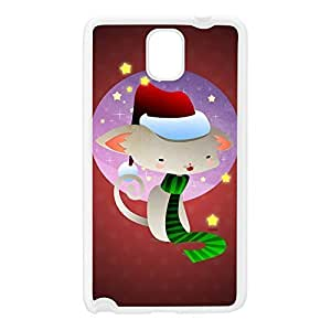 Christmas Kitty White Silicon Rubber Case for Galaxy Note 3 by DevilleArt + FREE Crystal Clear Screen Protector