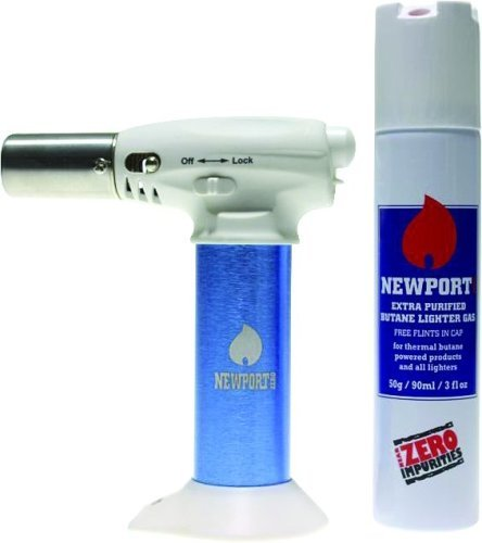 NEWPORT JR TURBO CHARGED TORCH & BUTANE CAN COMBO NTJR055 BLUE 6'' by NEWPORT JR (Image #2)