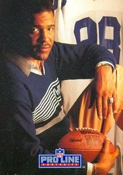 - Drew Pearson Football Card (Dallas Cowboys) 1991 Pro Line #143