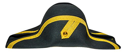Forum Novelties Men's Deluxe Adult Novelty Admiral Hat, Black/Gold, One Size (Adult Novelty Hats)